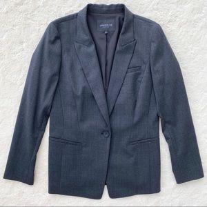 Lafayette 148 gray single button blazer career 8